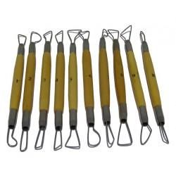 Kit 10 vaciadores filo redondo 17cm DWTS601010