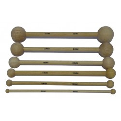 Kit 6 double tools wooden balls