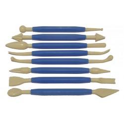 Kit 8 herramientas modelar - plastico